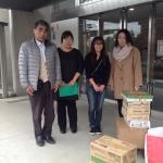 立川市内のひとり親の会・自立支援施設「立川マザーズ」に、缶詰各種(96缶)、等を贈呈しました(2016/11/19)
