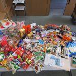 日野自動車労働組合様実施のフードドライブが12/22に開催され多くの食品をご寄贈いただきました(2016/12/23)