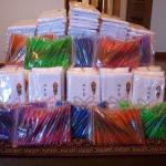 サンキョー(株)SAP日野店様から、タオルとボールペンを寄贈いただきました。(2016/12/5)