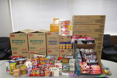 日野自動車労働組合様からのフードドライブでの食品寄贈(7/24)
